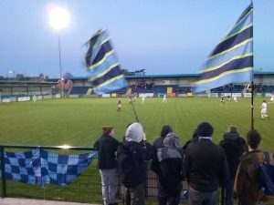 UCD Fans two flags